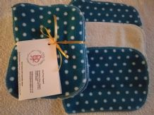Bamboo & Fleece Wipes Pack 10 Teal Spot Design